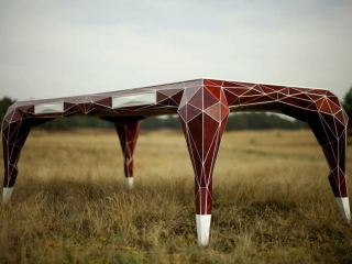 jasser studio - skin collection animal design furniture geometry leather desk