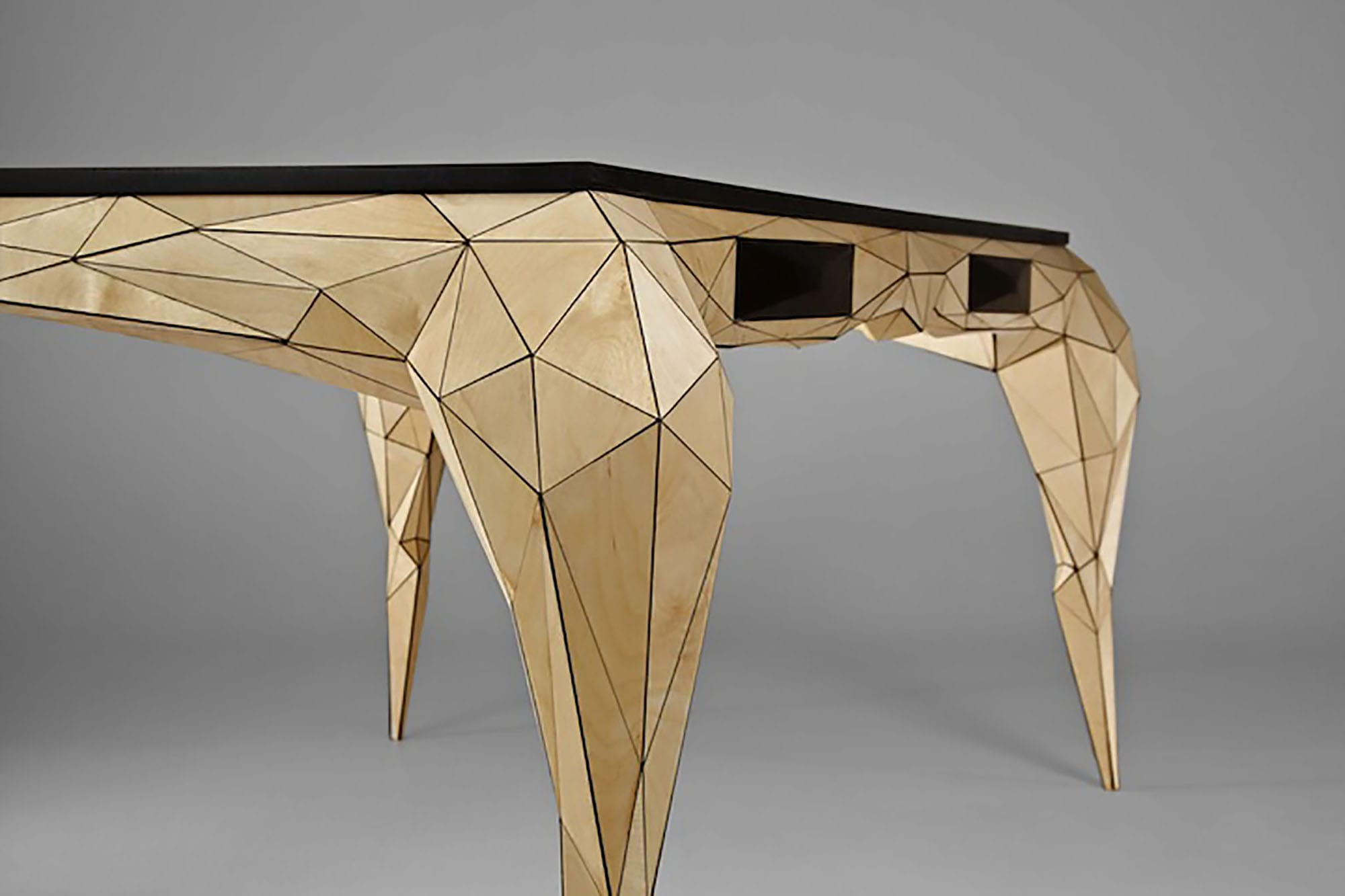 jasser studio - skin collection animal design furniture geometry desk wood drawer