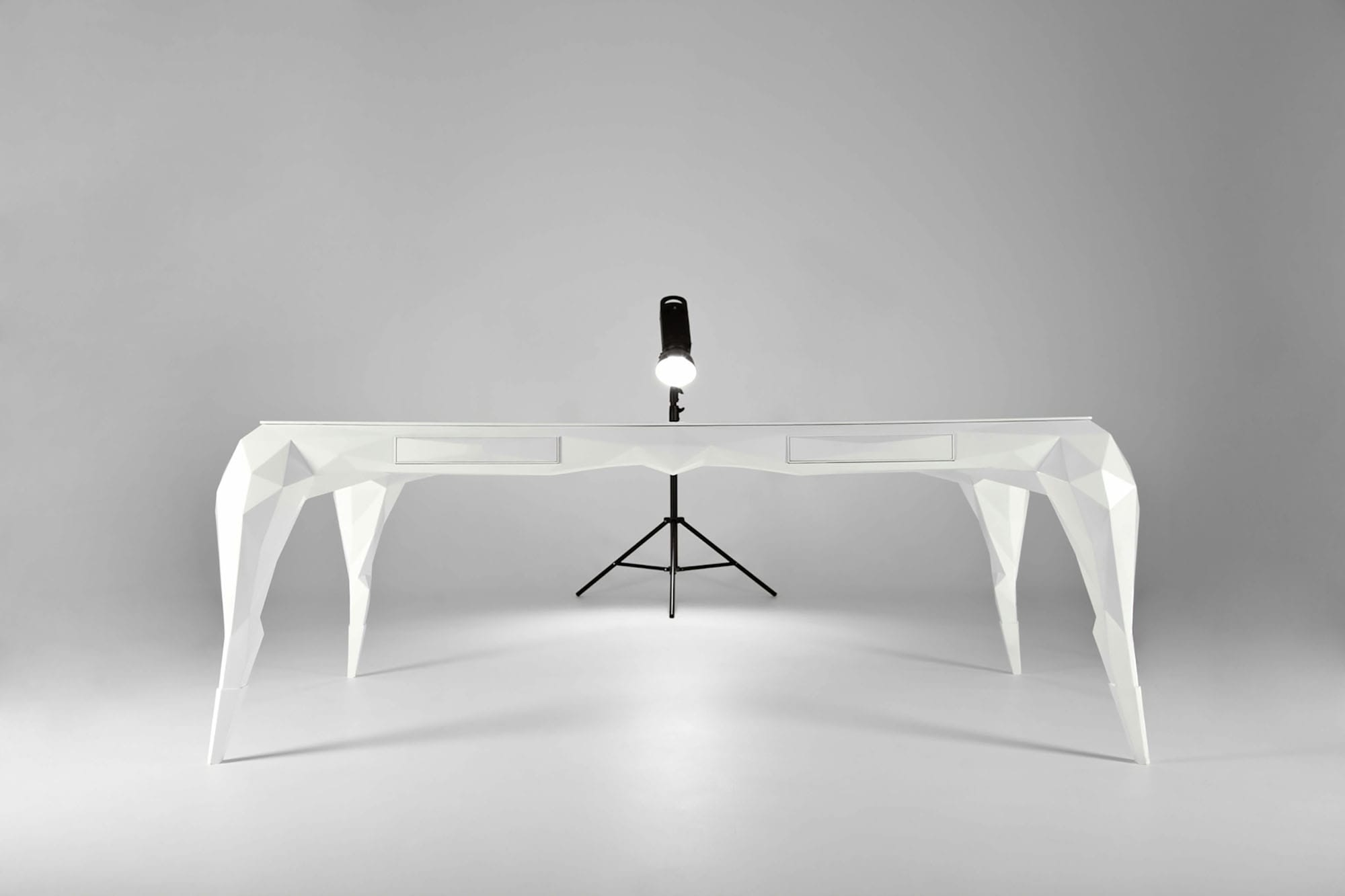 jasser studio - skin collection animal design furniture geometry white desk
